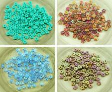 80pcs Czech Glass Small Flat Forget-Me-Not Flower Spacer Bead Caps Beads 5mm