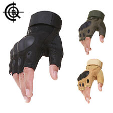 Motorcycle Paintball Tactical Combat Gloves Fingerless Military Cycling Gloves A