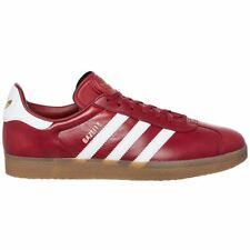 Adidas Gazelle Mystery Red Footwear White Mens Leather Low-top Sneakers Trainers