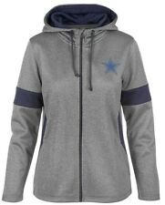 NFL Authentic Dallas Cowboys Women's Performance Charcoal Full Zip Hoodie Jacket