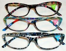 HIGH FASHION CATSEYE COLORFUL READERS UNIQUE ARMS CAT EYE READING GLASSES