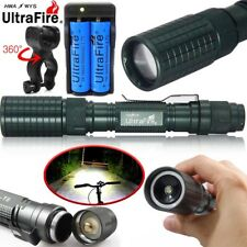 Tactical Cycling Zoomable T6 LED 18650 Flashlight Torch Light 18650 Charger