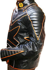 X-MEN SUIT MEN BIKER JACKET PANT MOTORBIKE MOTORCYCLE LEATHER SUIT Custom Made