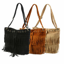 Women Faux Suede Fringe Tassel Shoulder Bag Handbags Messenger Bag LOT XO