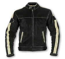 CREAM/BLACK JACKET MEN LEATHER JACKET MOTORBIKE/MOTORCYCLE JACKET RACING JACKET