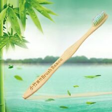 Natural Bamboo Toothbrush Ultra Soft Bristle Wooden Handle Brush Oral Care MN