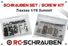 Screw Set for the Traxxas 1/16 Summit - Stainless Steel & Steel - ISK & IS