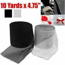 9M x12CM Diamante Diamond Ribbon Crystal Rhinestone Mesh Wrap Wedding Party Trim