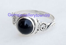 925 STERLING SILVER BLACK ONYX RING STONE GEMSTONE RING ANY SIZE R3BO