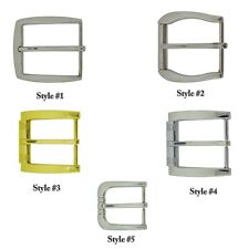 "1 1/2"" (38 mm) Single Prong Square Belt Buckle Waist belt buckle Silver Metal"