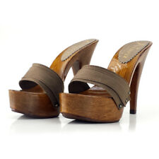 Clogs TAUPE Made in Italy 35 al 42 - Heel 13-K9101 TAU