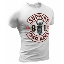 01 Biker White T-Shirt Support81 Big Red Machine Hells Angels