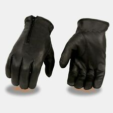 Milwaukee Leather - Men's *Unlined Driving Gloves W/ *Zipper Closure  **SH226D