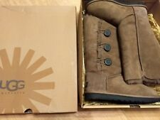 Brown Women's Ugg Bailey Button Triplet Boots Classic Tall Size 9 NEW IN BOX