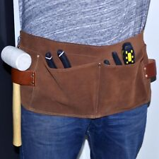 Suede waist belt strap carpenter tool pouch pocket apron contractor electrician