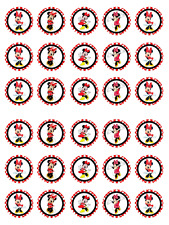 30 Minnie Mouse Edible Image Cupcake Icing Rice Paper Pre Cut Dots