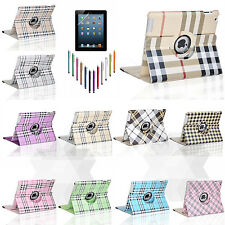 360 Rotating Magnetic PU Leather Wake Up Sleep Smart Case Cover for iPad 2 3 4