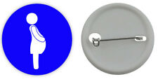 PREGNANT MUM TO BE (BLUE) Button Badge 3 Sizes Pinback Lapel Pin Baby On Board