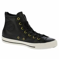 Converse Chuck Taylor All Star Hi Black Women Leather High-Top Sneakers Trainers