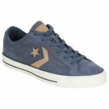 Converse Star Player Ox Sharkskin Khaki Mens Suede Low-Profile Casual Trainers