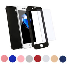 Hybrid 360 Hard Ultra thin Case Cover + Tempered Glass For Apple iPhone 7 7 Plus