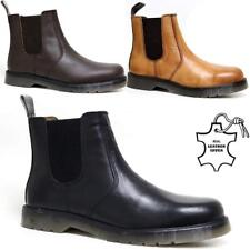Mens Leather Chelsea Boots Dealer Work Ankle Biker Smart Formal Work Shoes Size