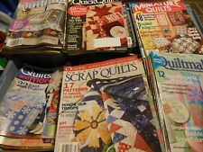 QUILT QUILTING McCALLS, BH & GARDEN, FON'S PORTER, & MORE, BACK ISSUES MAGAZINE