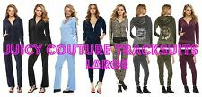 NWT Juicy Couture Velour Tracksuit Women Embellished Jacket Pants large