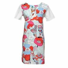 Women Floral Printed Summer Casual Short Sleeve O-neck Midi Dress
