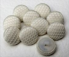 Cream Tulle & Satin Covered Buttons x 10 Wedding Dress Bridal Handmade Buttons