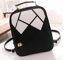 New Fashion Women Backpack Patchwork Student School Bag Leather Travel Bag