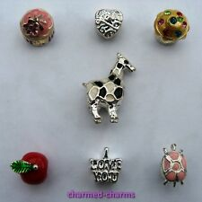 1 or 4 x Silver Plated Charm Spacer Beads to fit European 3mm Charm Bracelets
