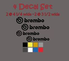 4 Brembo Decal Sticker Vinyl Caliper Brake 4 1/4 & 3 1/2 for 6 & 4 Piston Colors