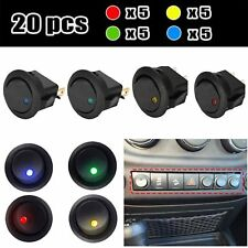 20PCS Led Dot Light 12V Car Auto Boat Round Rocker ON/OFF Toggle SPST Switch XSA