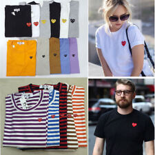 COMME DES GARCONS CDG PLAY Mini Heart Stripe Pure Cotton Short Sleeve T-shirts