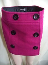 Womans Cool Weather Skirt Size 0: Express Red or Express Studio Black Wool VGC