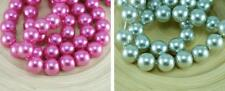 Pearl Czech Glass Round Beads Imitation Pearls 14mm 4pcs