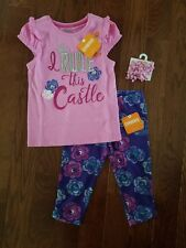 NWT Gymboree 3 piece set lot - NEW outfit - Eiffel Flowers Size 4T or 5T