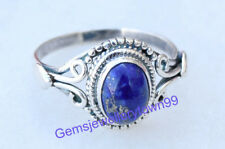 925 STERLING SILVER BLUE LAPIS LAZULI RING STONE GEMSTONE RING ANY SIZE R7LP