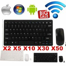 Mini Thin 2.4G Wireless Keyboard and Optical Mouse Combo Kit for Desktop lot PA