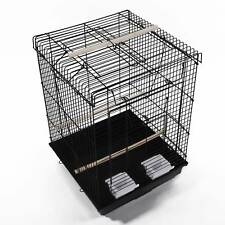 "23"" Bird Cage Pet Supplies Metal Cage with Open Play Top Black Z"