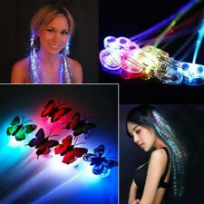 1-10pc LED Light-Emitting Braids Fiber Optic Wire Halloween Decorations Colorful