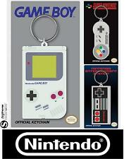Official Nintendo SNES NES GAMEBOY Control Pad Rubber Keyring Keychain Retro New