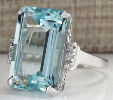 1Pcs Glamour Fashion Luxury 925 Silver Plated Light Blue Sapphire Ring ER54