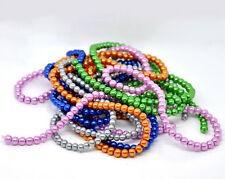 """Glass Pearl Imitation Round Beads - 32"""" Strand - 6mm - 120 pcs. - Pick the color"""