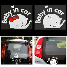 Baby In Car Cute Waving Baby on Board Safety Sign Car Sticker Decal 162*130mm X5