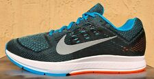 Mens Nike Zoom Air Structure 18 Running Shoes Size 13 Black/White/Blue (RARE)