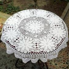 Lace Draped Round Shape Table Runner Tablecloth For Wedding Home Decor