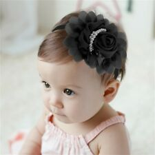 Color Cotton Flower Bead Beautiful Kid Child Infant Baby Hair Band Headwrap GA