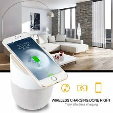 Qi Fast Wireless Charger Stand Pad with Bluetooth Speaker for Samsung iPhone E